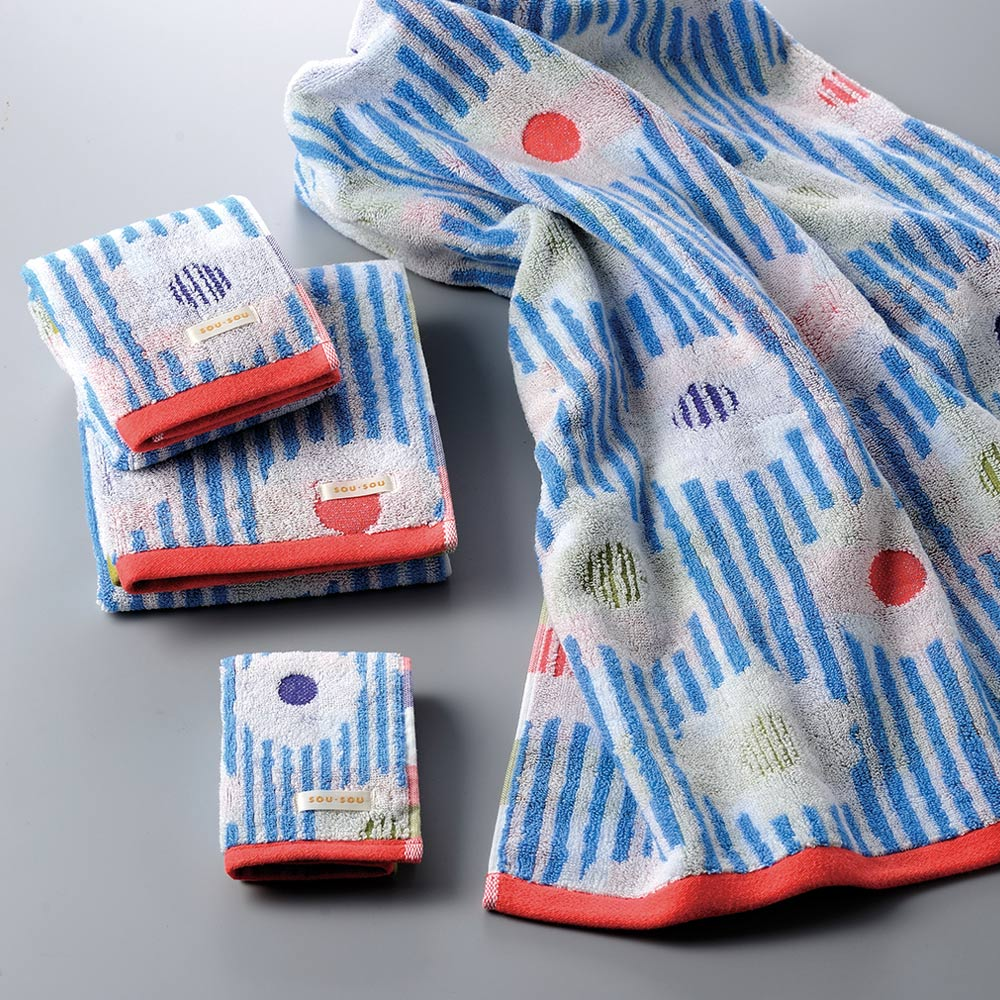 日本丸真|SOU SOU 京都新和風今治浴巾-卡倫