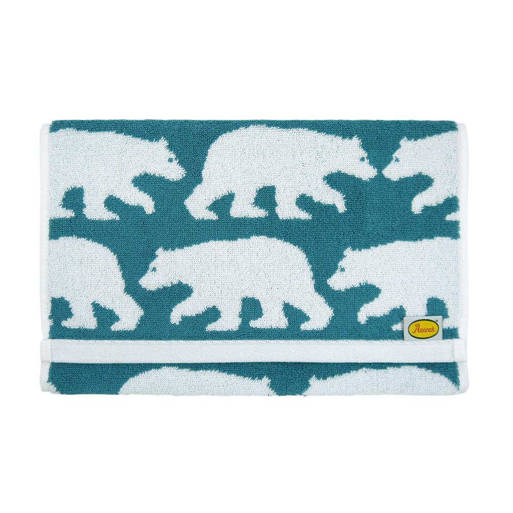 日本丸真|Anorak英倫設計款毛巾-白熊