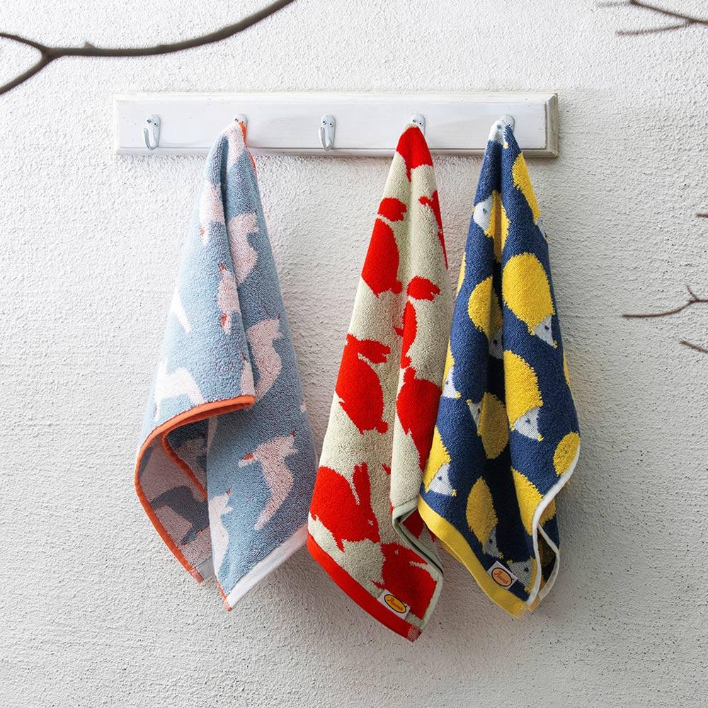日本丸真|Anorak英倫設計款毛巾 松鼠