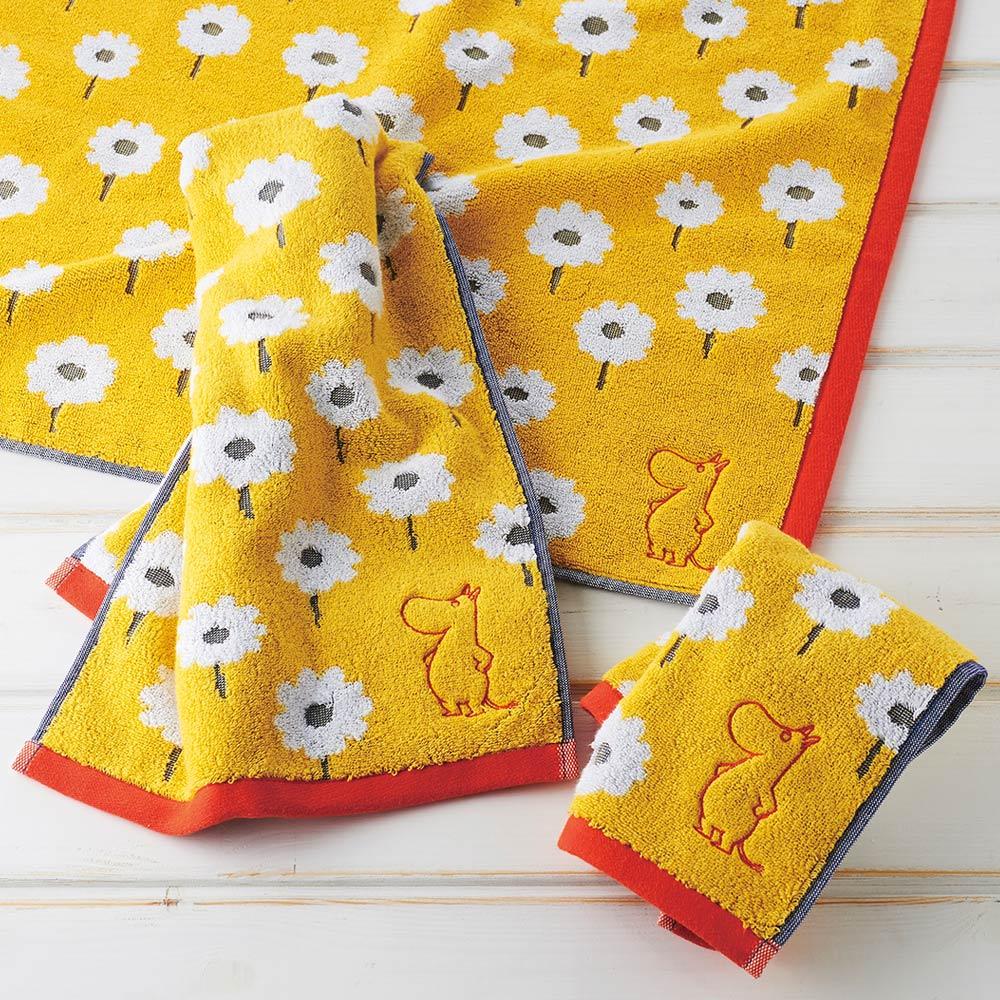 日本丸真|Moomin葡萄牙製刺繡毛巾-嚕嚕米看花