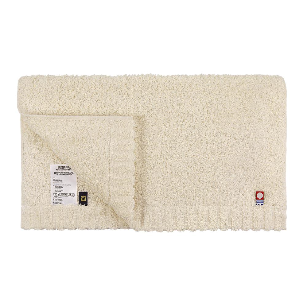 日本丸真|頂級今治極輕量中空棉毛巾-米