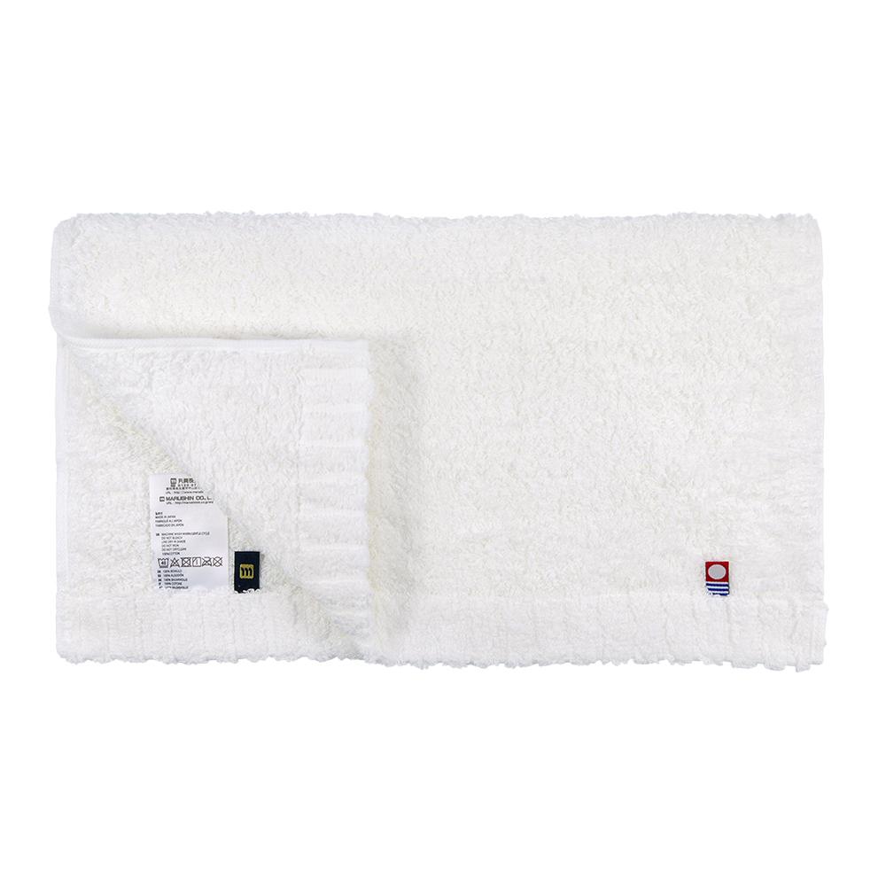 日本丸真|頂級今治極輕量中空棉毛巾-純白