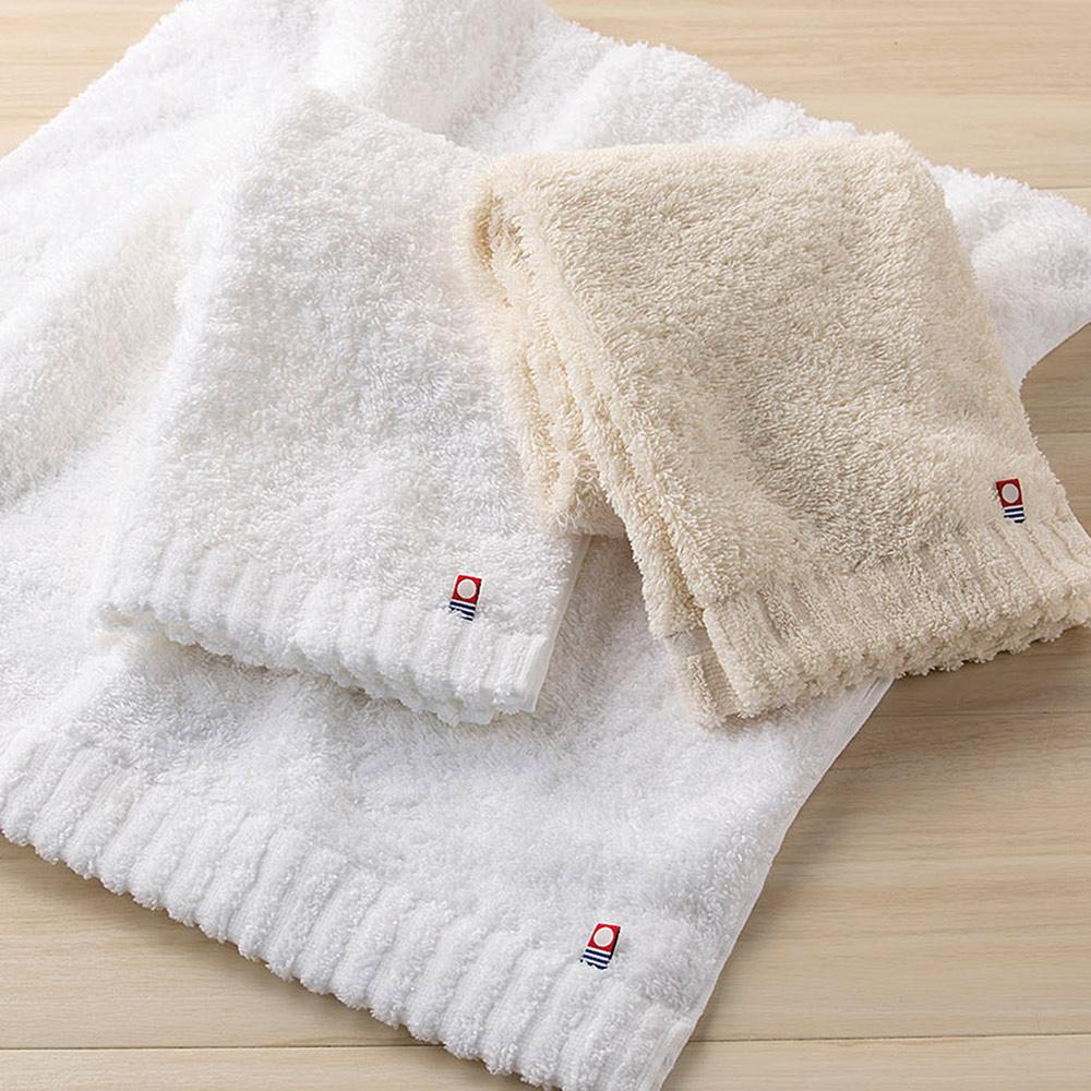 日本丸真|頂級今治極輕量中空棉浴巾-純白