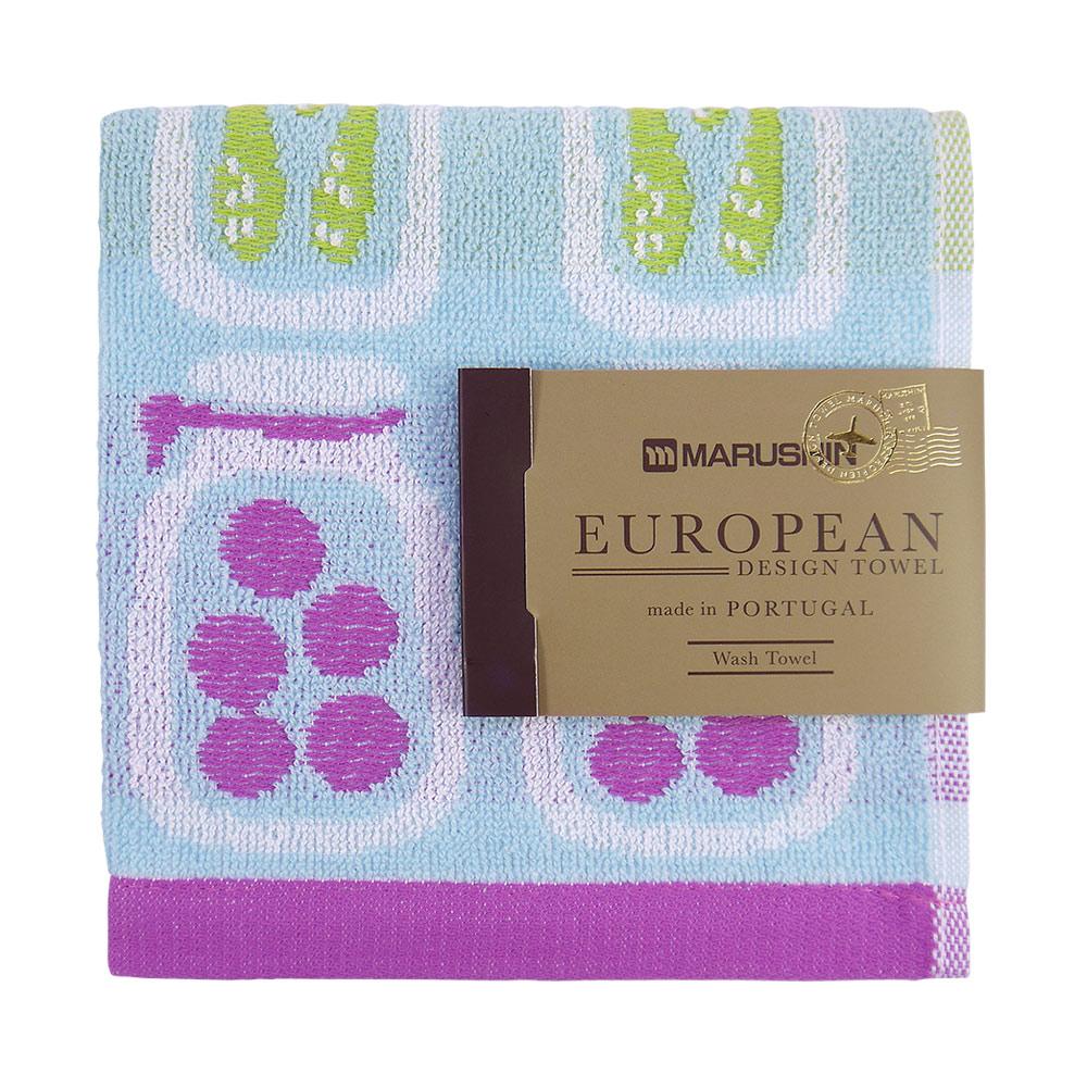 日本丸真|葡萄牙製創意北歐洗臉巾-醃黃瓜