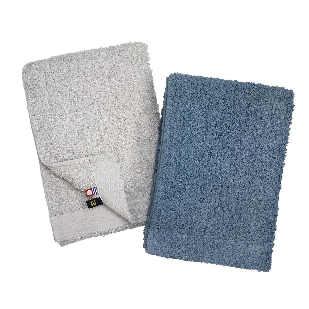 日本丸真|頂級今治極輕量長棉浴巾-藍