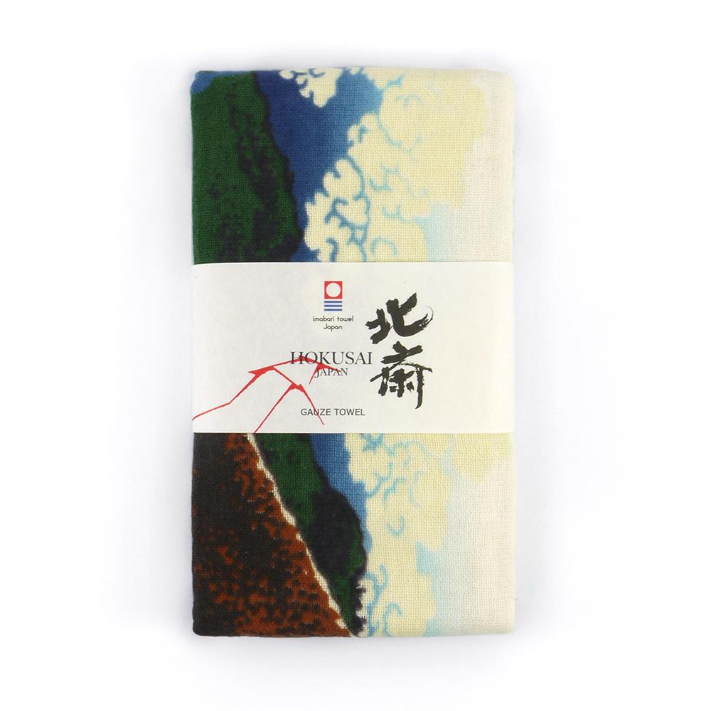 日本丸真|北齋典藏今治毛巾-山下白雨