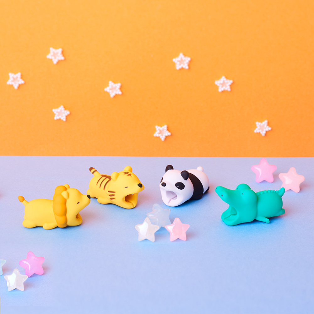 Dreams|慵懶動物園 CableBite Type-C專用咬線器 貪吃小胖豬