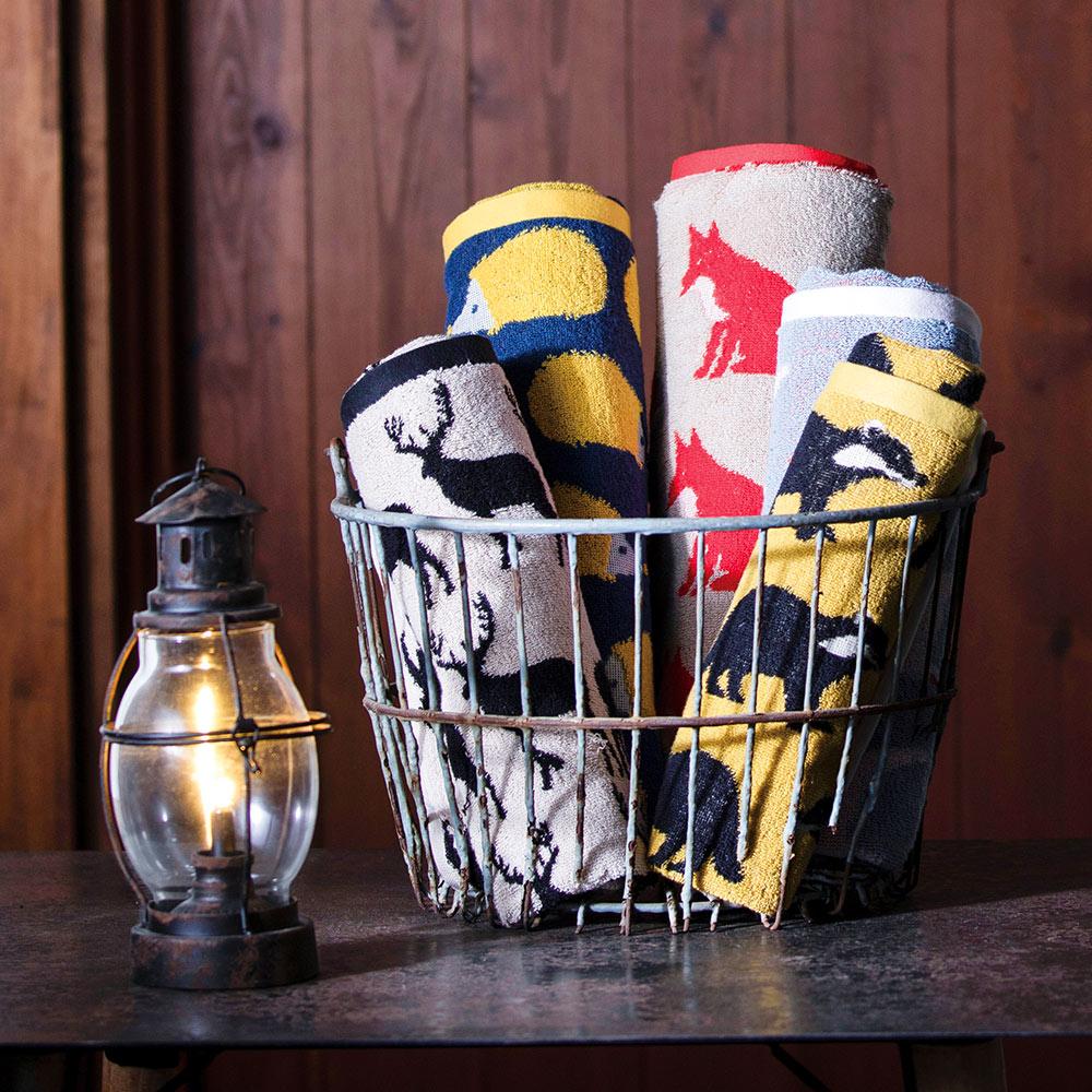 日本丸真|Anorak英倫設計款毛巾 鼬鼠