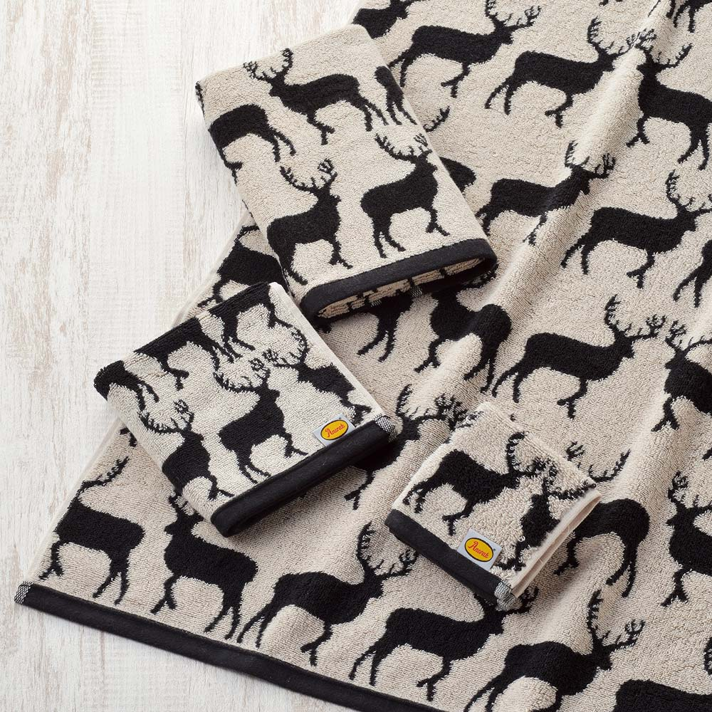 日本丸真|Anorak英倫設計款洗臉巾 麋鹿