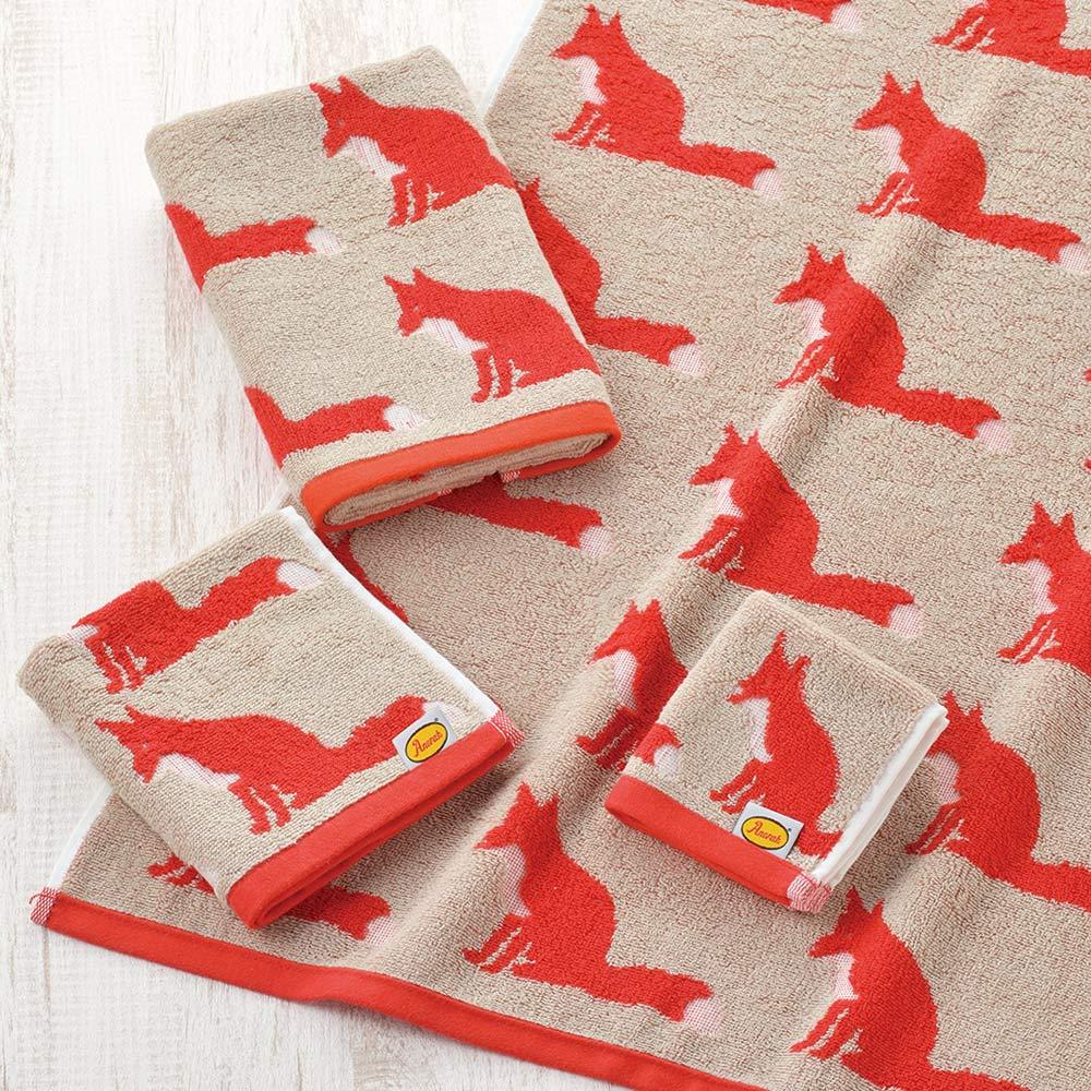 日本丸真|Anorak英倫設計款洗臉巾 狐狸