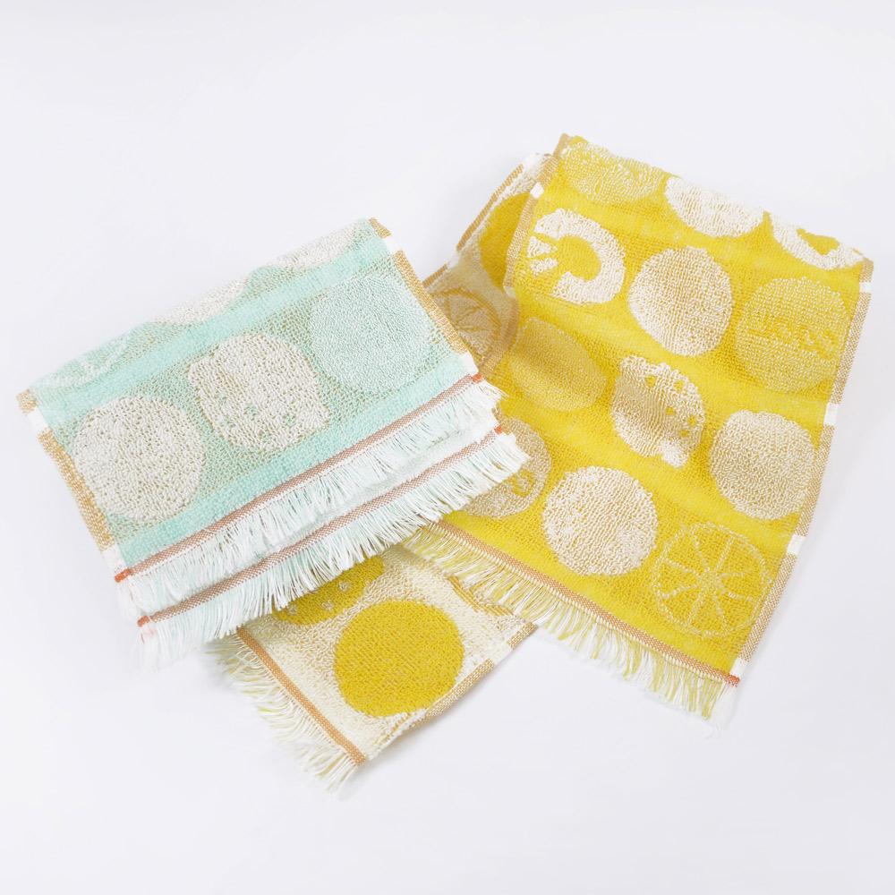 日本丸真 Eco de COOL 涼感運動毛巾 熱帶水果 綠