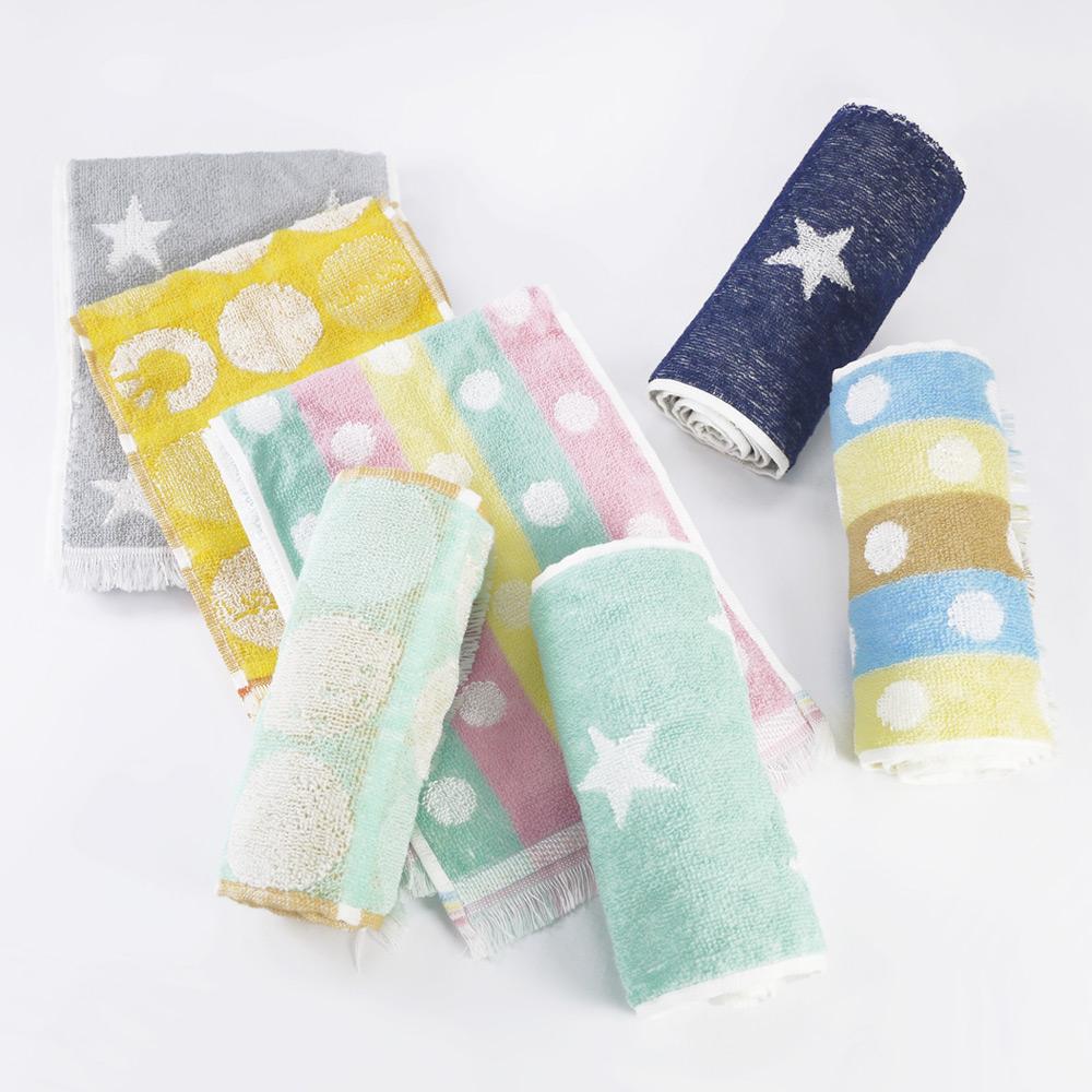 日本丸真|Eco de COOL 涼感運動毛巾 星星 藍