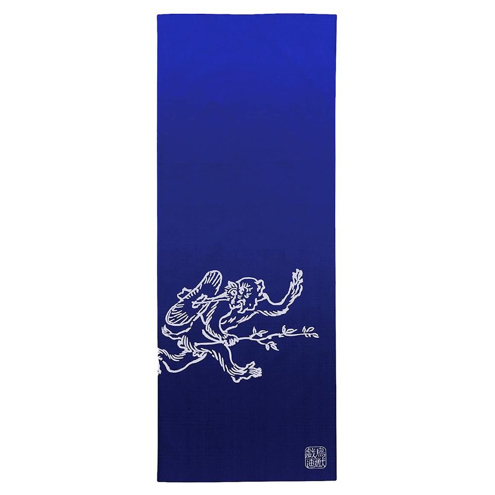 日本丸真 鳥獸戲畫典藏日式多功能手巾 猴子追逐