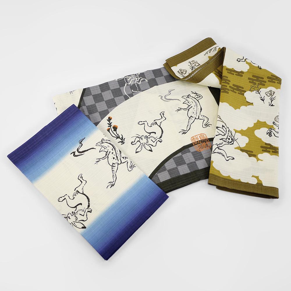 日本丸真|鳥獸戲畫純棉風呂敷萬用巾 山林
