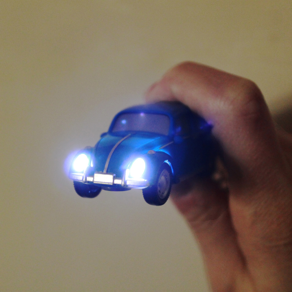 Dreams VW福斯授權LED金龜車鑰匙圈 黃