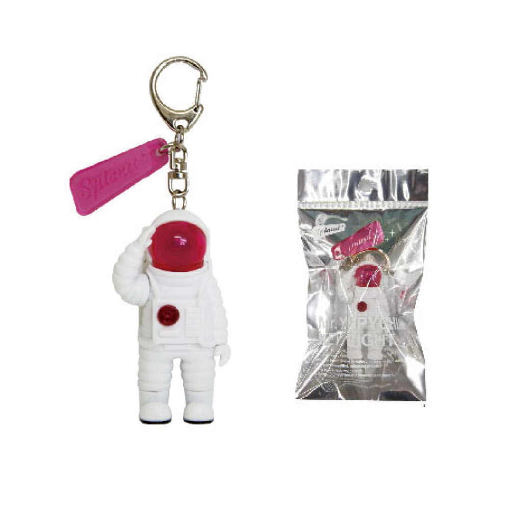 Dreams Mr. Yupychil 太空人造型LED發光鑰匙圈 火星粉