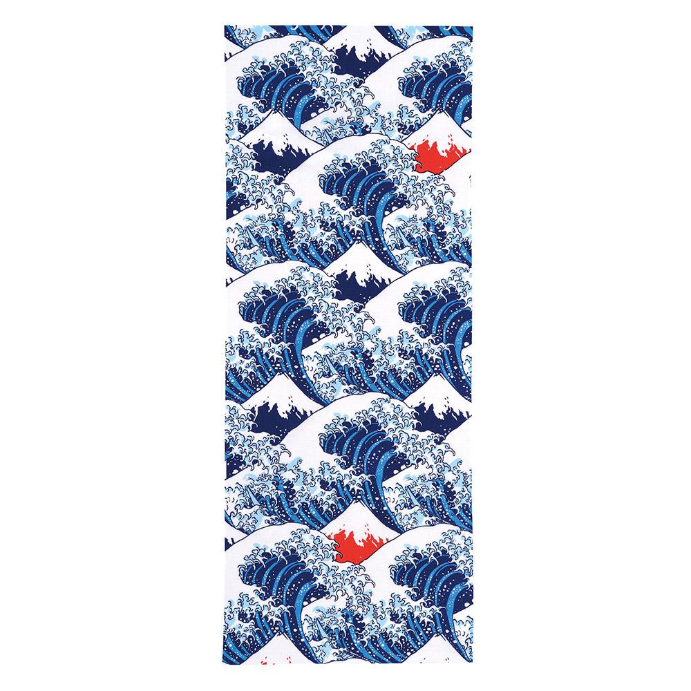 日本丸真 北齋典藏日式手巾 神奈川海浪