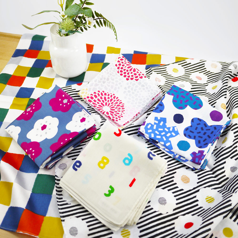 日本丸真|SOU·SOU 京都新和風風呂敷萬用巾 花漾菊
