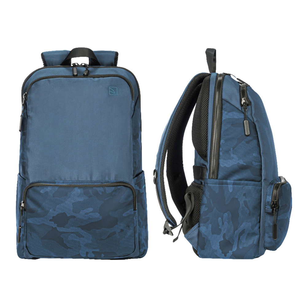 TUCANO|Terras Camouflage 時尚減壓商務後背包16吋 迷彩藍