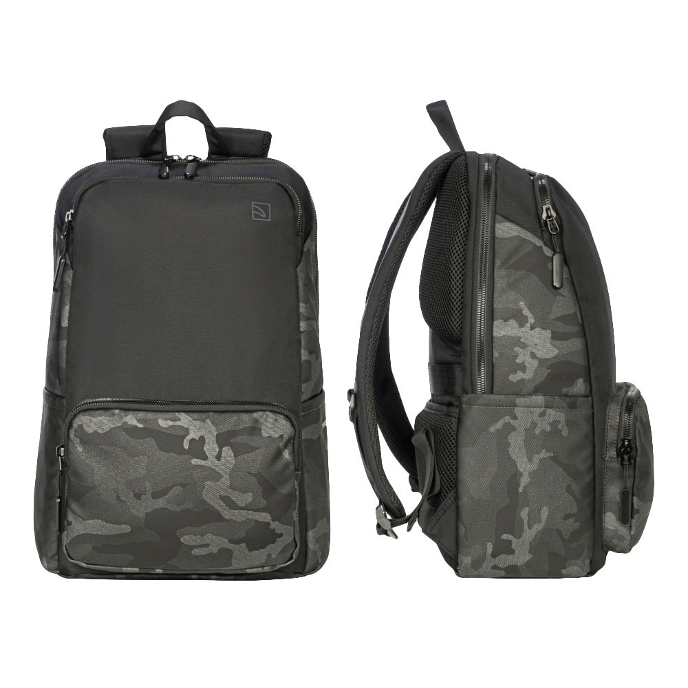 TUCANO|Terras Camouflage 時尚減壓商務後背包16吋 迷彩灰
