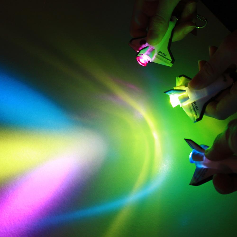 Dreams 太空梭造型 LED 鑰匙圈 黃