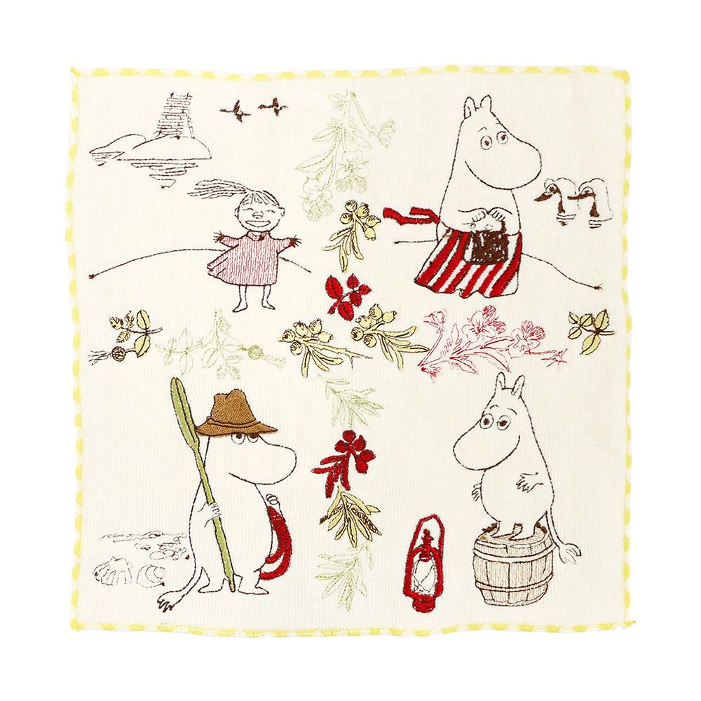 日本丸真|Moomin刺繡小方巾 姆米谷的日常