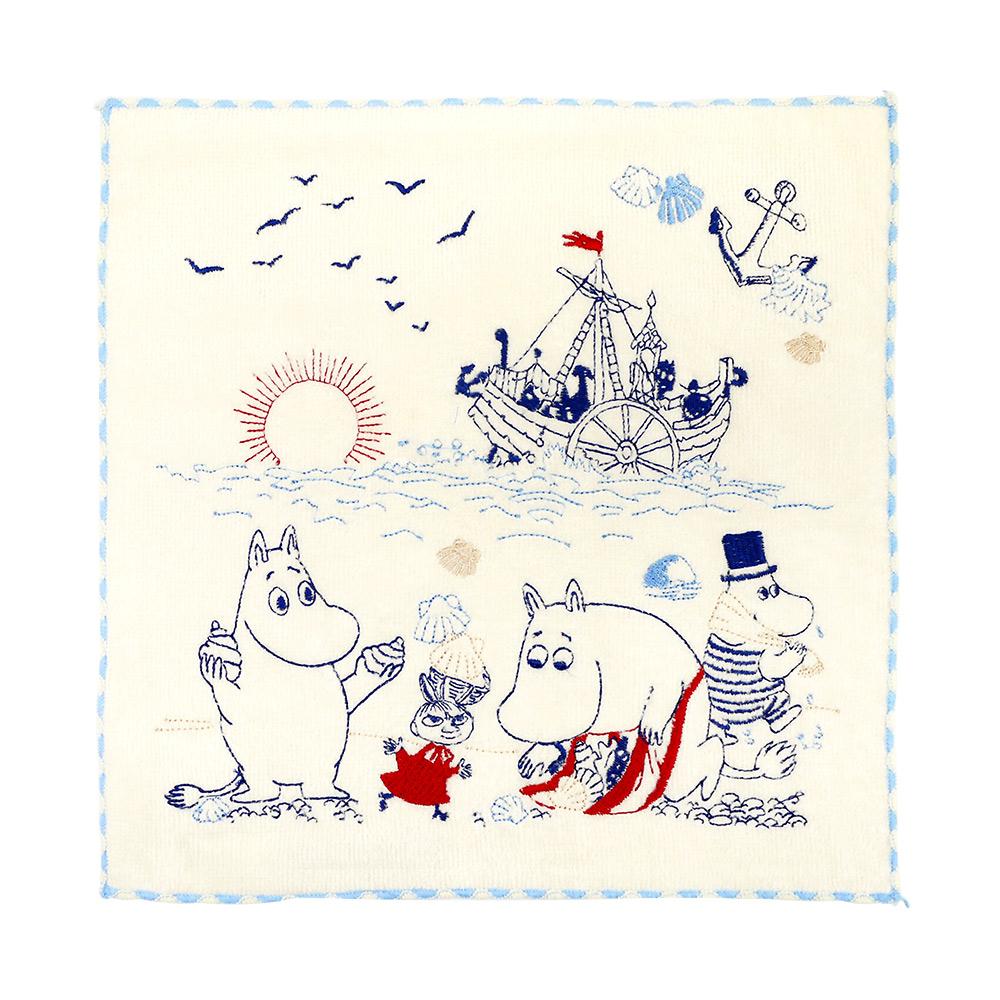 日本丸真|Moomin刺繡小方巾 撿貝競賽