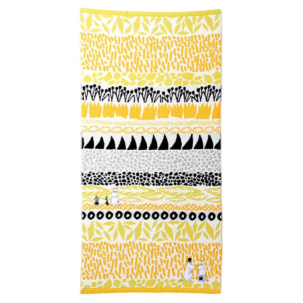 日本丸真|Moomin澄間漫步刺繡浴巾