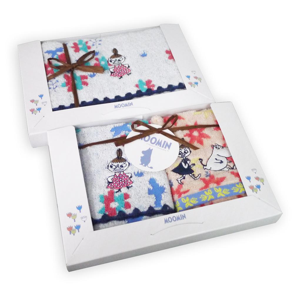 日本丸真 Moomin 盛開的日子毛巾禮盒 三件組