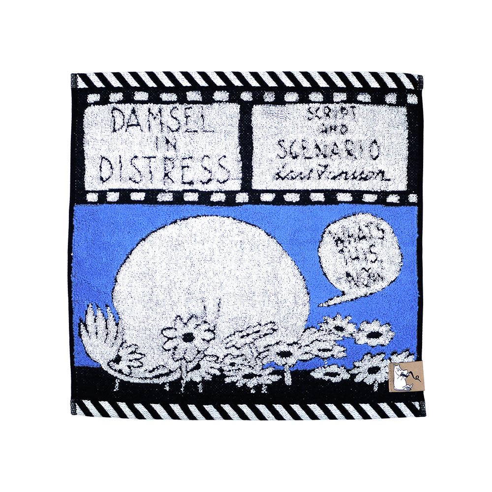日本丸真|Moomin漫畫洗臉巾 藍