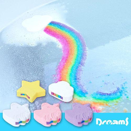 Dreams|彩虹瀑布沐浴鹽泡澡球 獨角獸柑橘