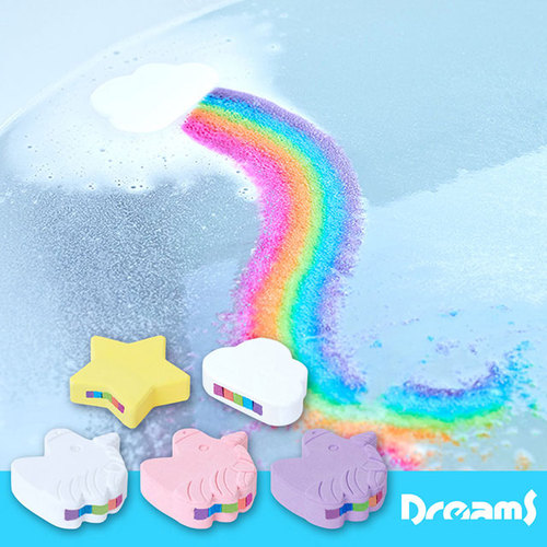 Dreams 彩虹瀑布沐浴鹽泡澡球 獨角獸玫瑰