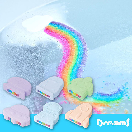 Dreams|彩虹瀑布沐浴鹽泡澡球 海龜青蘋果