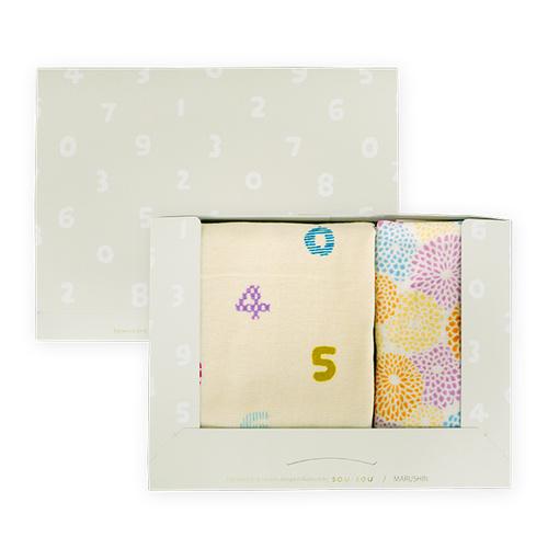 日本丸真|SOU SOU京都新和風毛浴巾禮盒