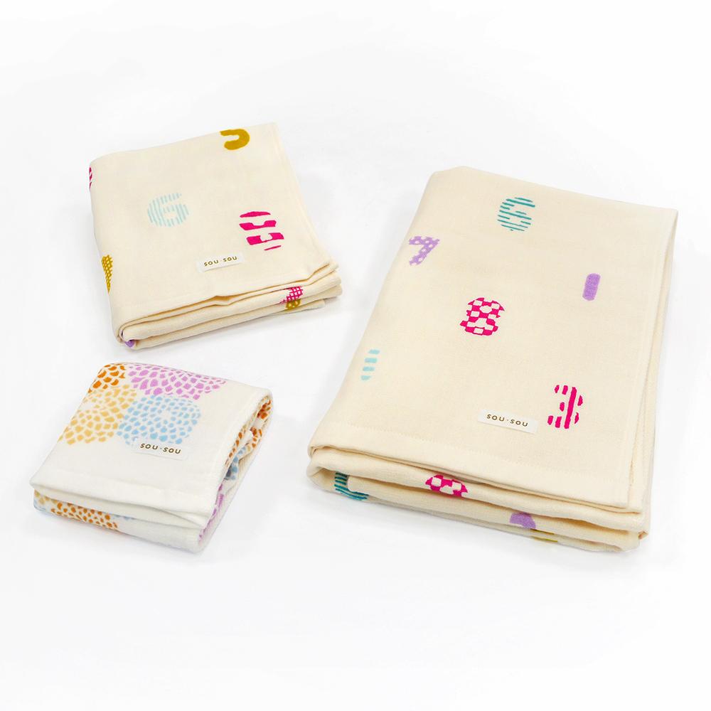 日本丸真|SOU SOU京都新和風洗毛浴3件組禮盒