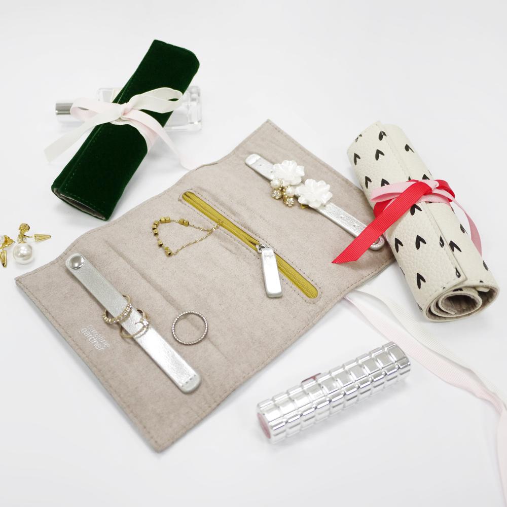 Caroline Gardner|捲式旅行飾品收納袋(小)晶鑽銀