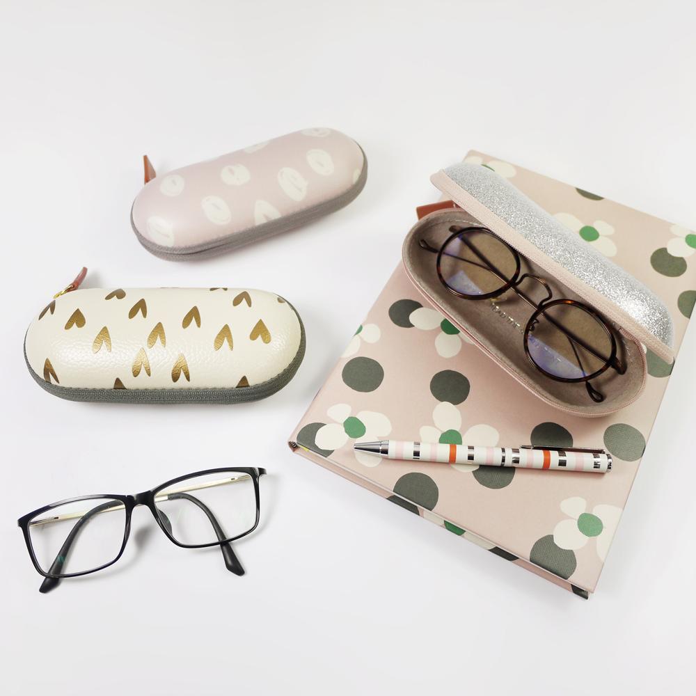 Caroline Gardner|簡約收納眼鏡盒 晶鑽銀