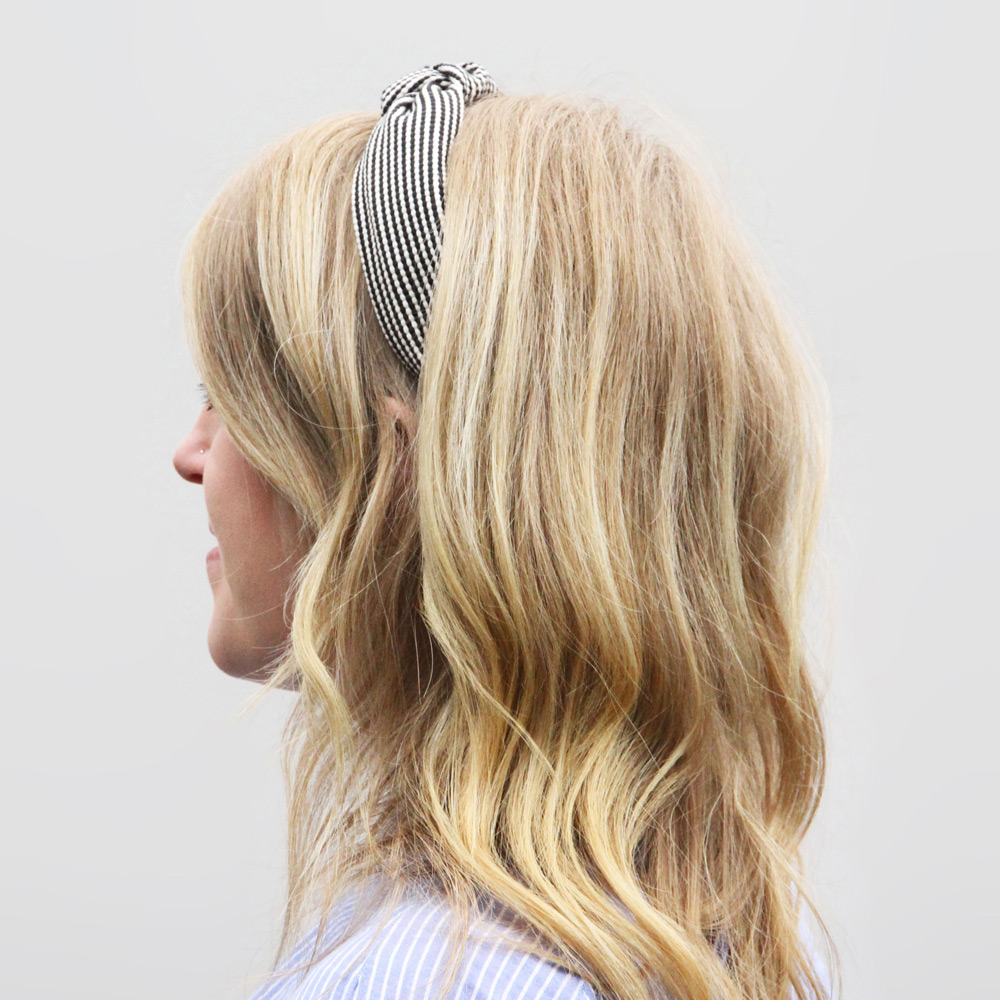 Caroline Gardner|復古扭結包布髮箍 條紋