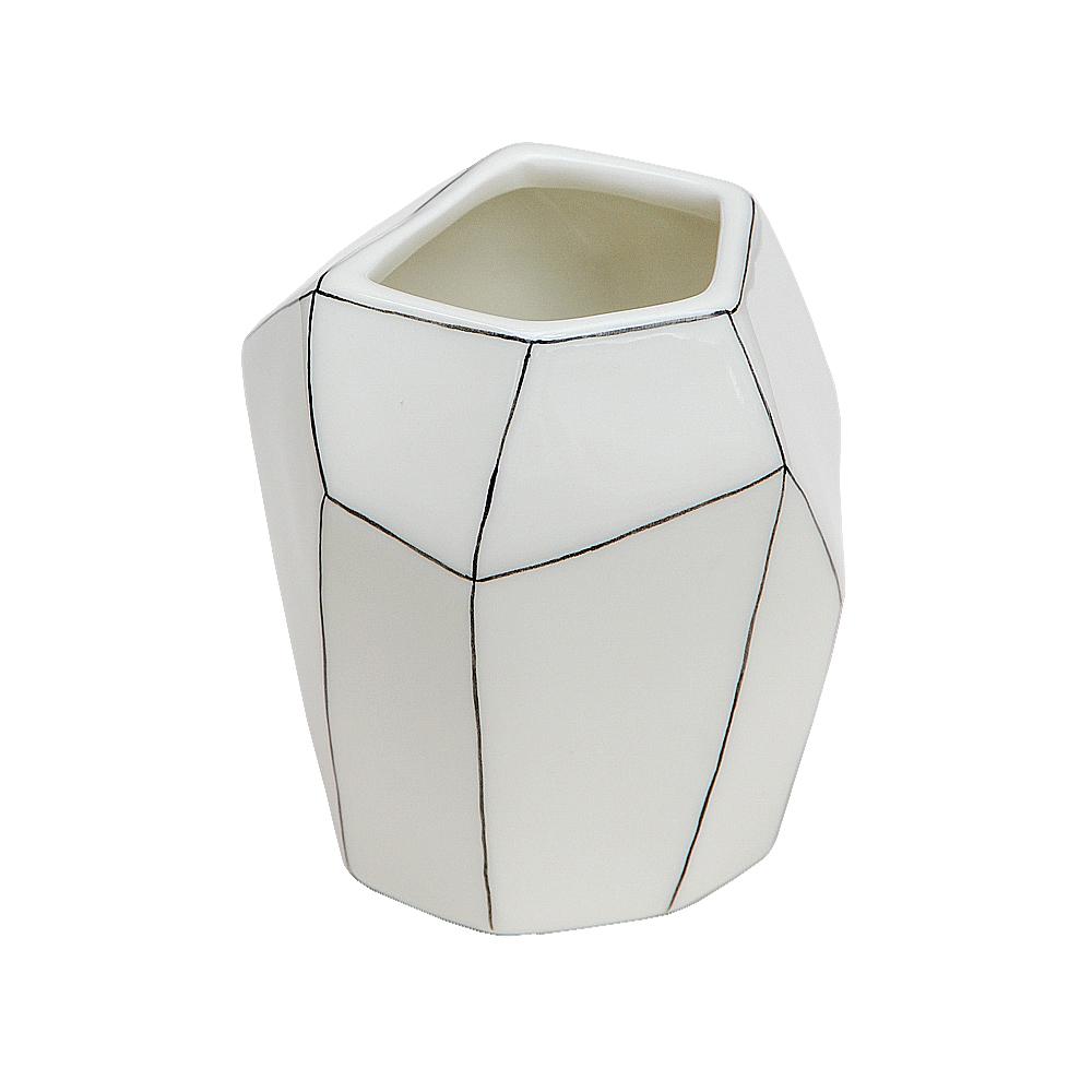Caroline Gardner|簡約手繪幾何線條花瓶/置物瓶(小)