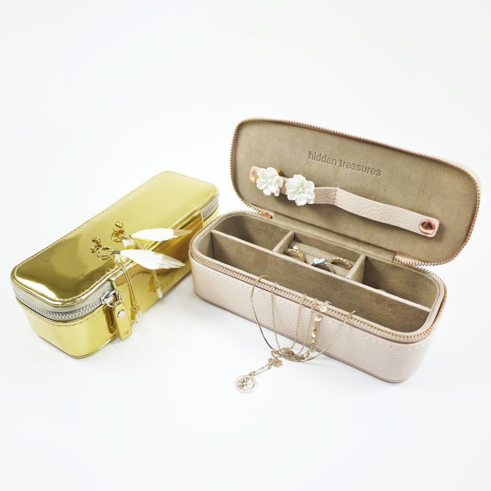 Caroline Gardner|輕量旅行飾品收納盒(大)- 香檳金