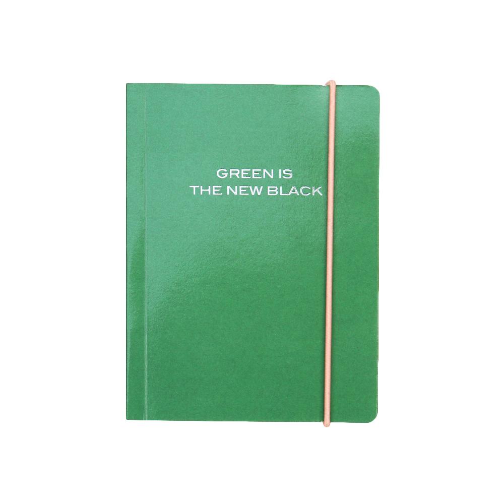 Caroline Gardner 橫線筆記本 - 夜幕綠