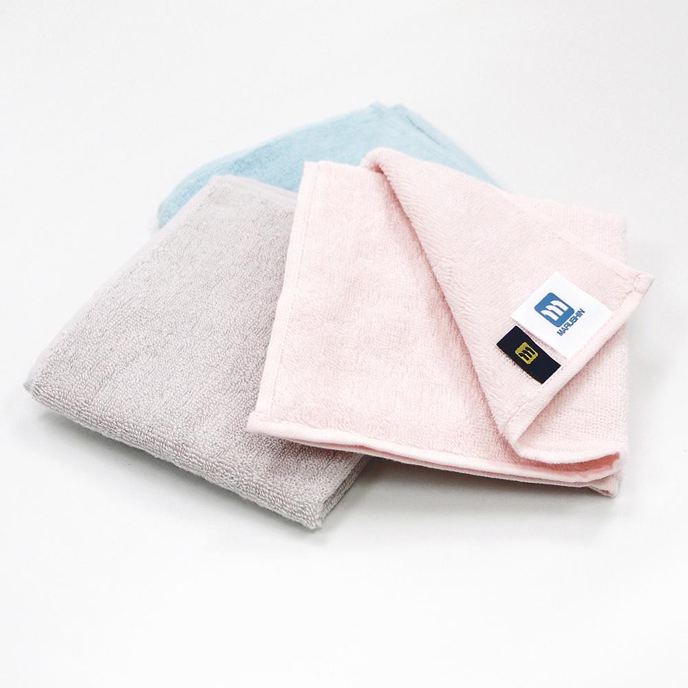 日本丸真|日本製Etak抗菌純棉快乾小方巾 藍