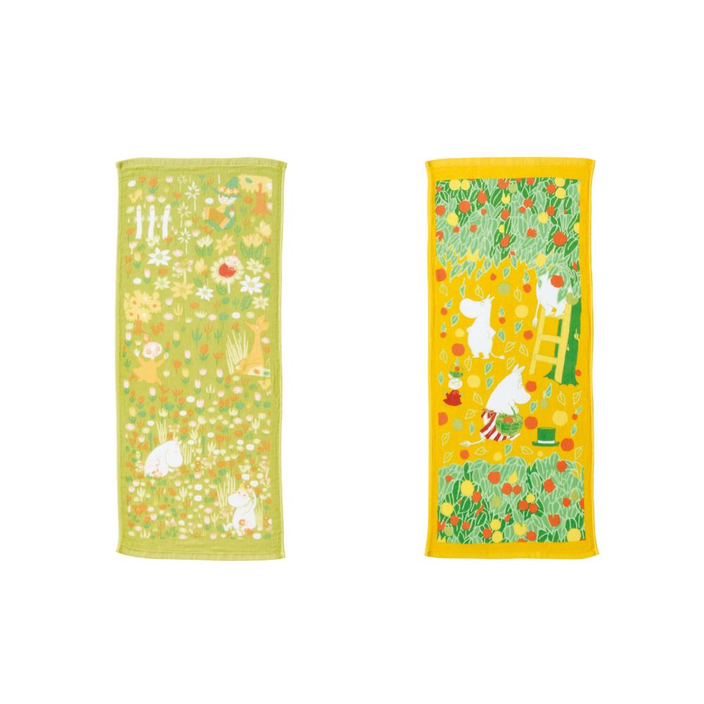 日本丸真|Moomin 今治紗布速乾親膚毛巾2件組 (春+秋)