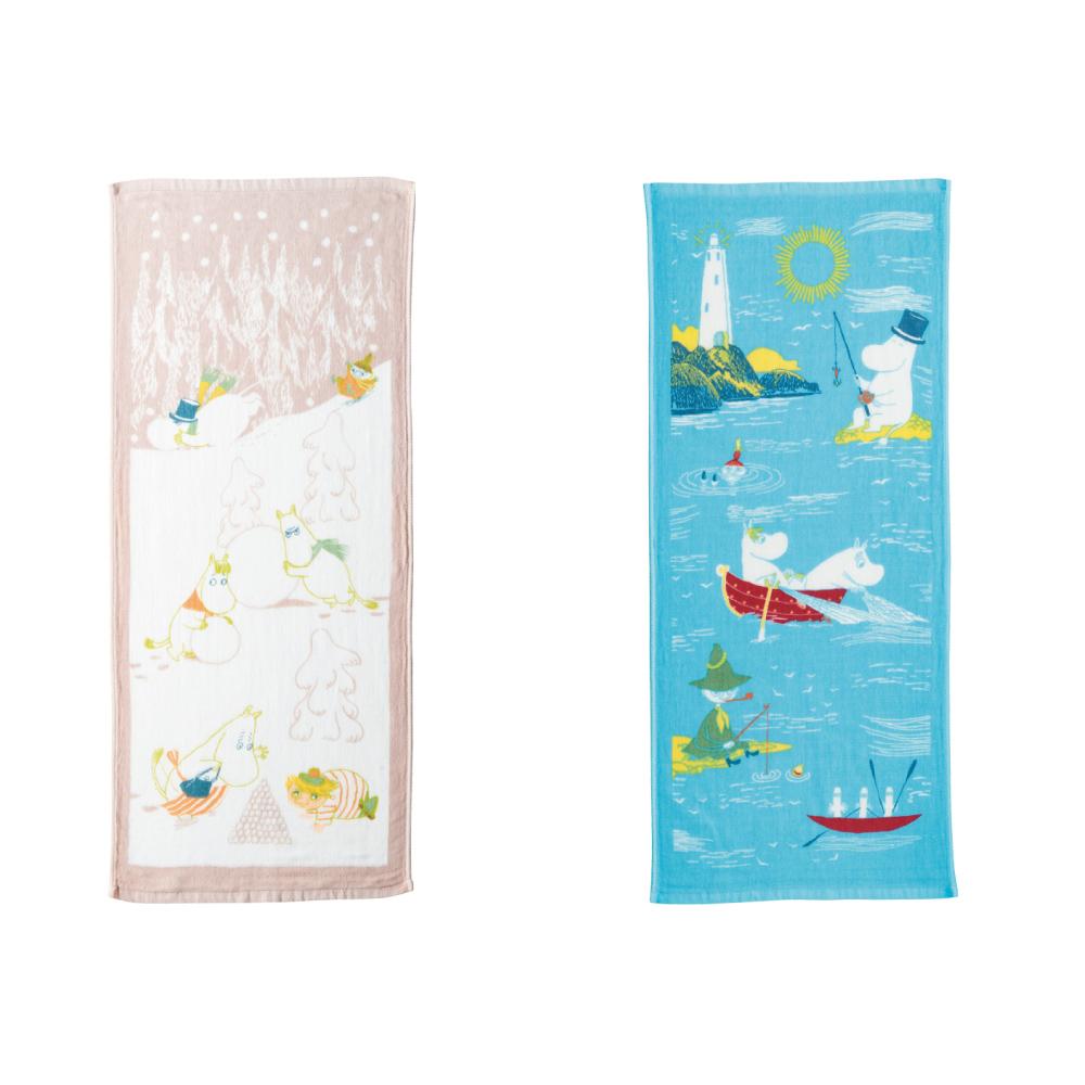 日本丸真 Moomin 今治紗布速乾親膚毛巾2件組 (夏+冬)