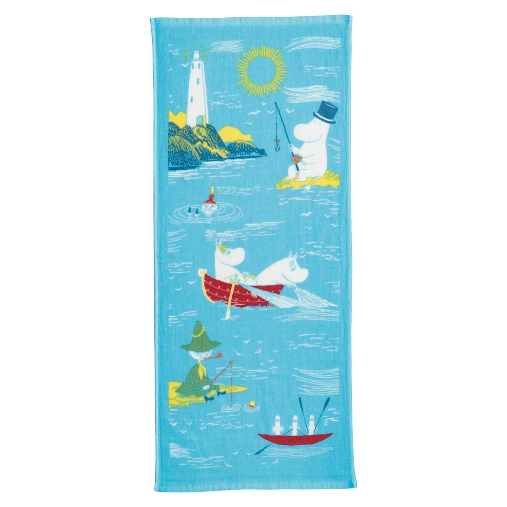日本丸真|Moomin 今治紗布毛巾 夏季湖畔