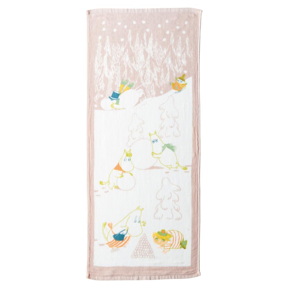 日本丸真 Moomin 今治紗布毛巾 冬季雪球