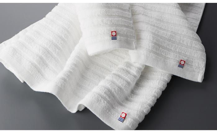 (複製)日本丸真|今治無染純白浴巾-水波紋