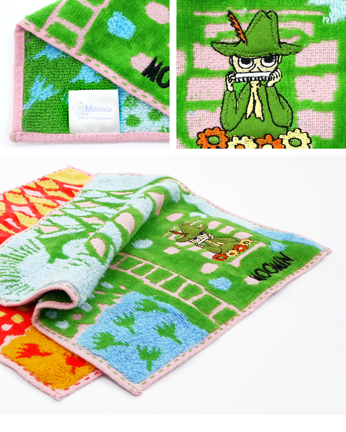 (複製)日本丸真|Moomin 刺繡方巾房子禮盒 紅