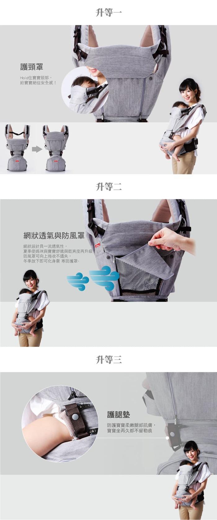 SINBII|EZbag 2.0 全階段嬰兒背帶- 米蘭灰