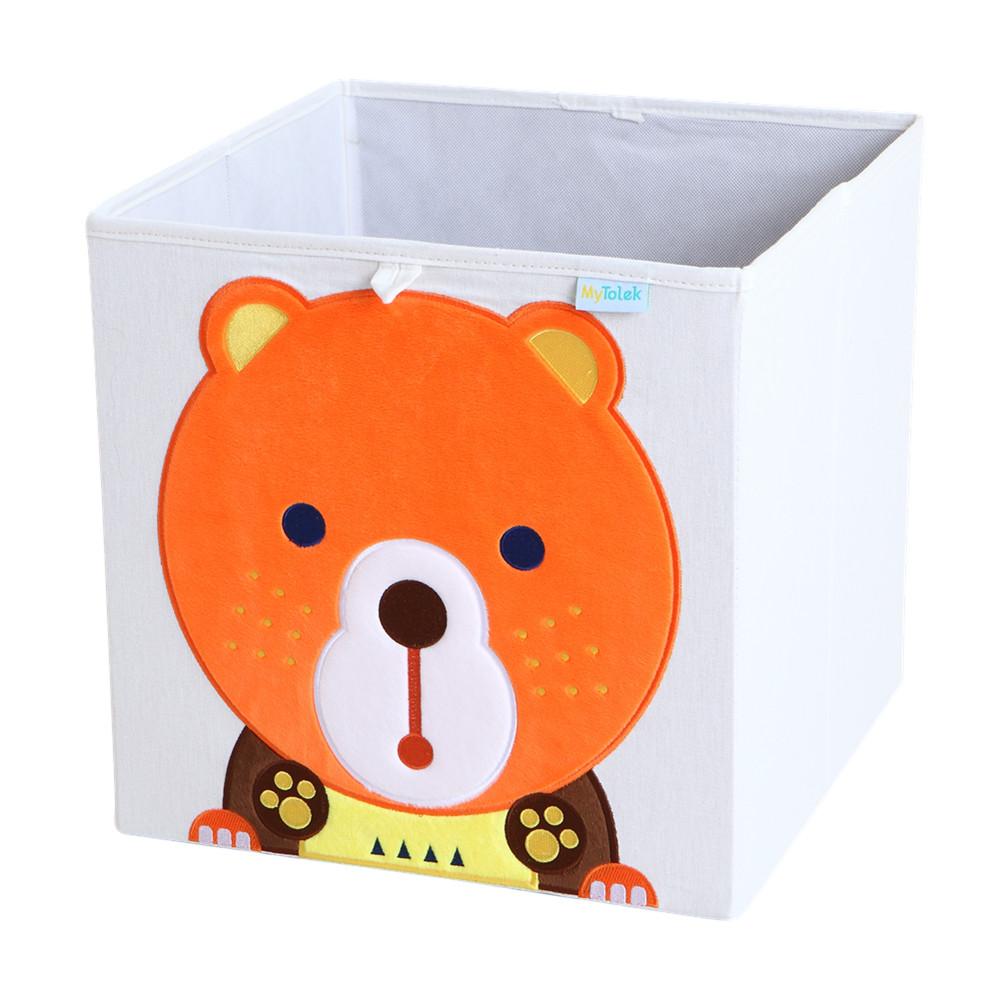 MyTolek童樂可|藏寶盒收納布箱-熊胖
